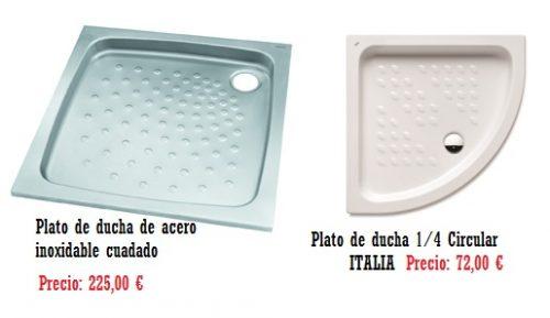 Modelos en platos de duchas