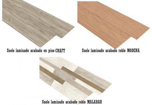 Suelos laminados acabados madera