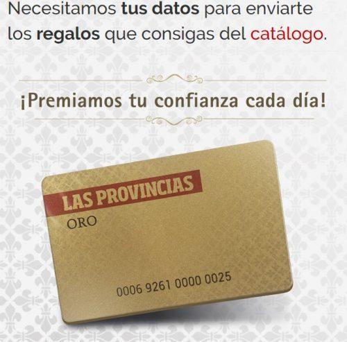 Las provincias tarjeta oro