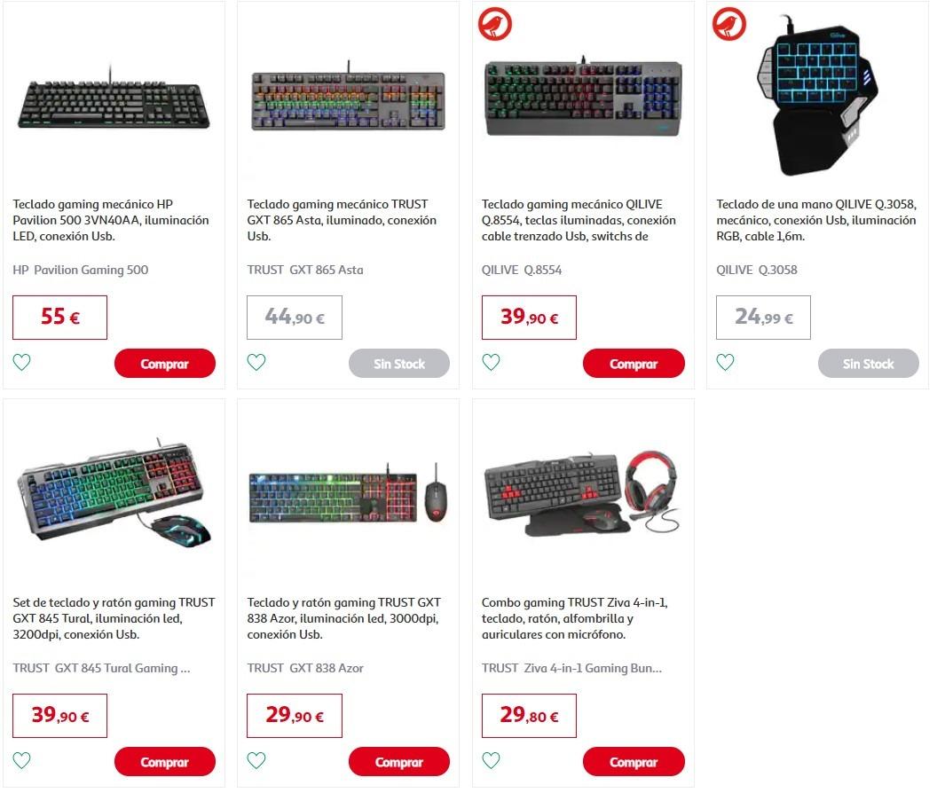 ofertas teclados gaming Alcampo