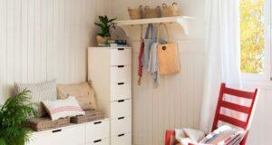 banco de almacenaje en dormitorio