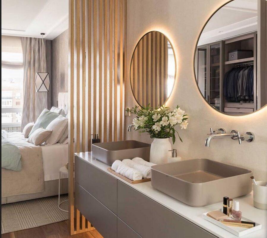 baño con dos grandes espejos de conforama